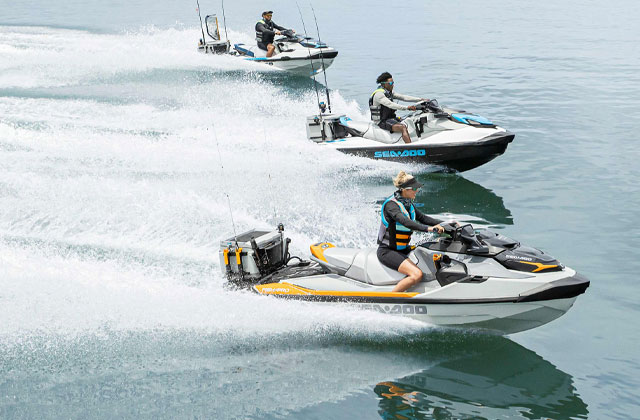 Family riding Sea-Doo GTI SE