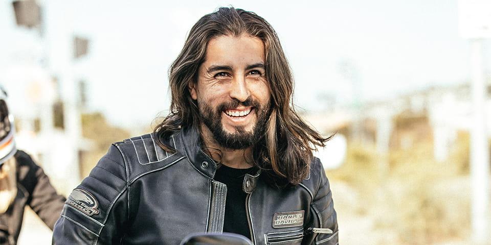 H-D Rider Smiling